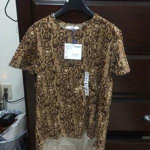 Zara Women blouse size M leopard color